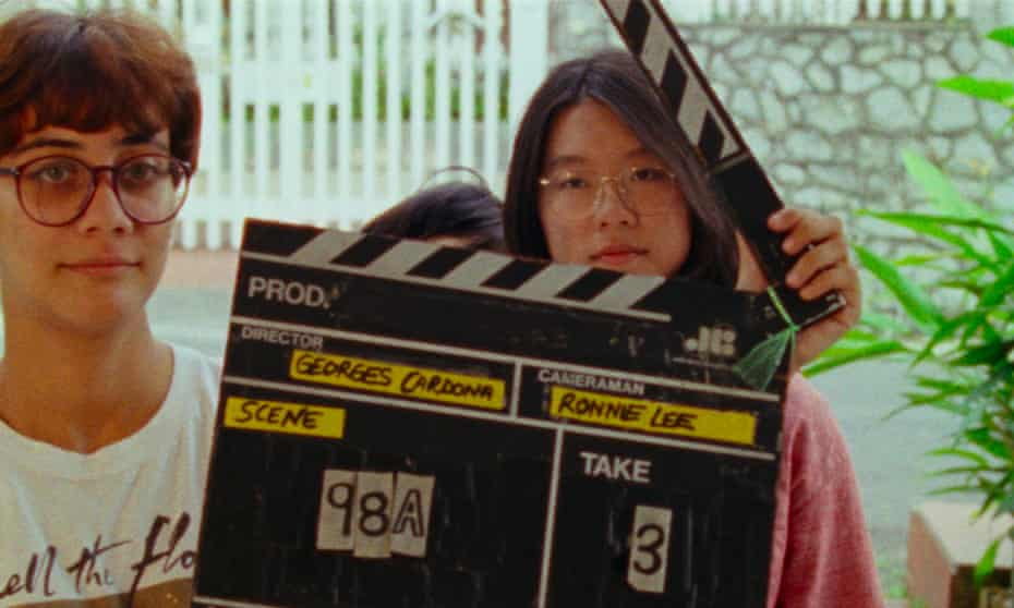 Producer Sophie Siddique and Sandi Tan on the set of the original Shirkers in 1992.