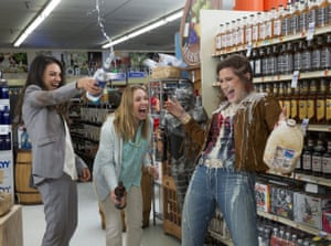 Hahn with Mila Kunis, left, and Kristen Bell in Bad Moms.