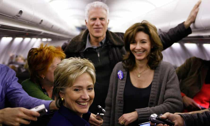 With Ted Danson and Hillary Clinton, campaigning in 2008.
