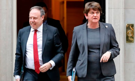 Arlene Foster and Nigel Dodds's party has been accused of hubris.