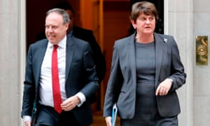 The DUP's Arlene Foster and Nigel Dodds