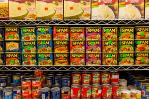 laden shelves in a 99 cent store in New York City.