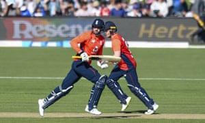 England's Eoin Morgan and James Vince