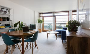 Modern classic: an open plan dining and sitting room.