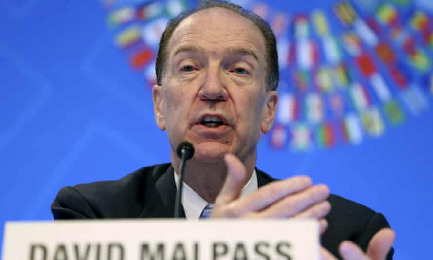 The World Bank president, David Malpass.