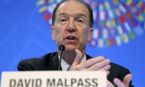 World Bank President David Malpass.