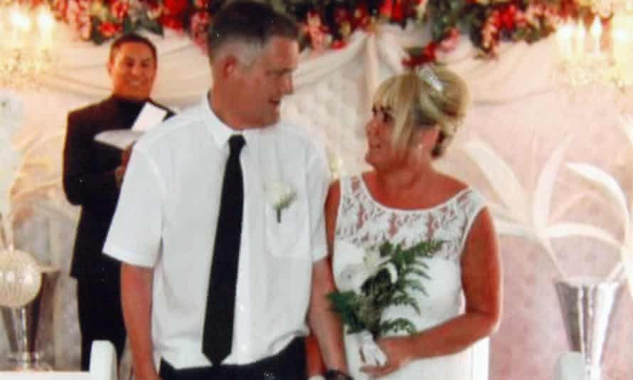 David and Sharon Edwards on their wedding day in Las Vegas.