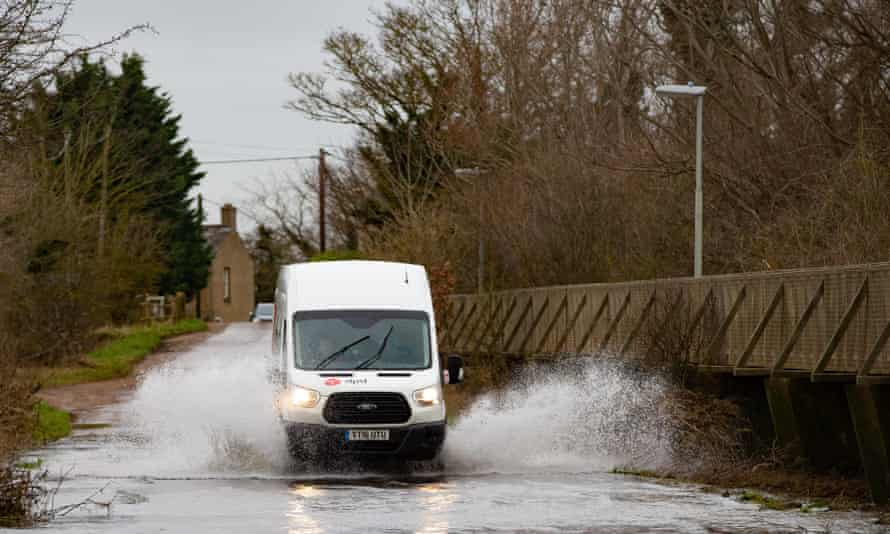The Causeway at Sutton Gault, Cambridgeshire, remained closed after flooding with more rain expected this weekend.