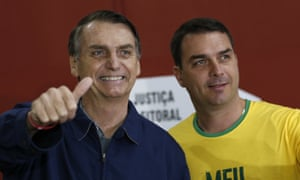 Jair Bolsonaro and his son Flávio