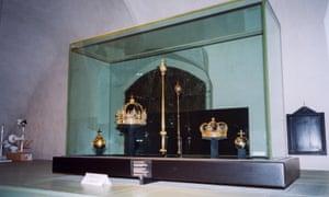 King Karl IX's funeral regalia was on display in Strängnäs Cathedral when it was stolen last year.