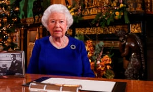 The Queen posing for a photograph after recording her annual Christmas Day message in 2019.