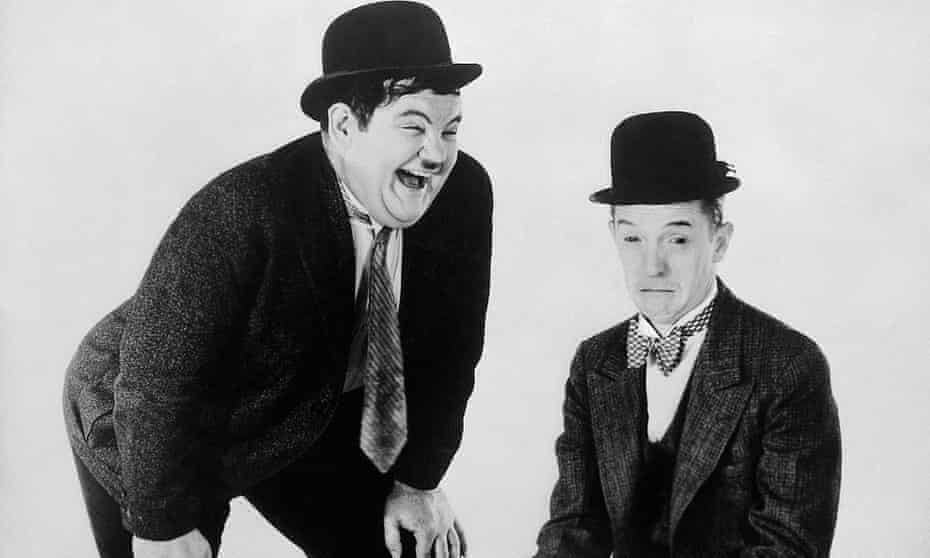 Oliver Hardy and Stan Laurel in 1936