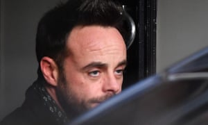 Ant McPartlin outside his house after the drink-driving incident in March.