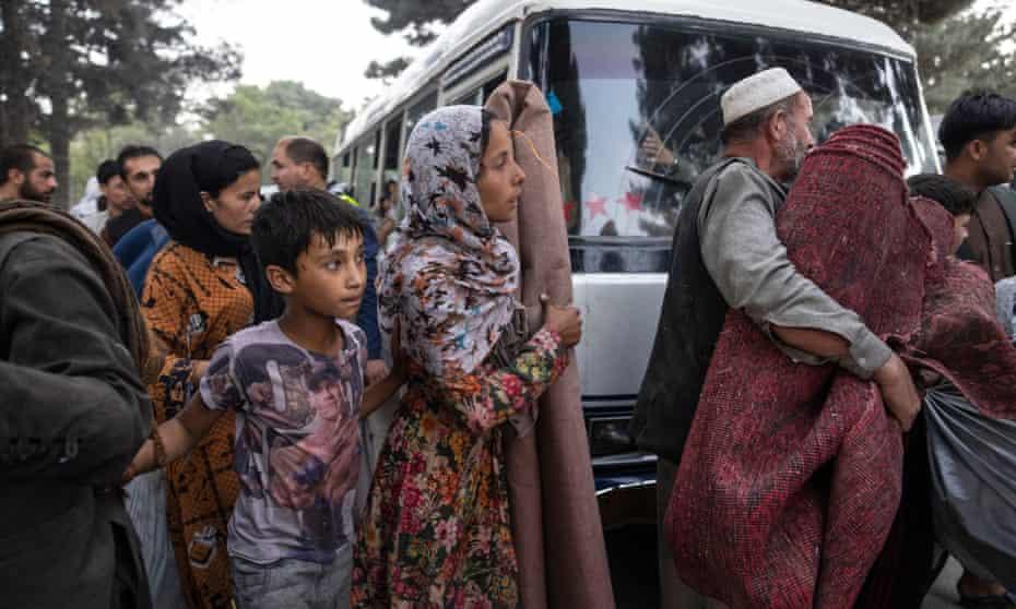 Displaced Afghans in Kabul