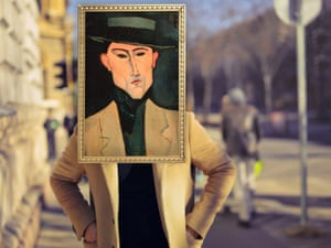 Portrait of a Man With a Hat by Amedeo Modigliani photographed by Michael Thibault