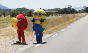 Nothing says Tour de France more than a Minion and an Angry Bird.