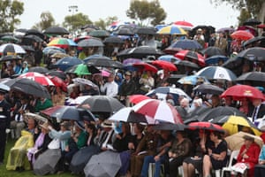 People at the Remembrance Day National Ceremony at the Australian War Memorial in Canberra.