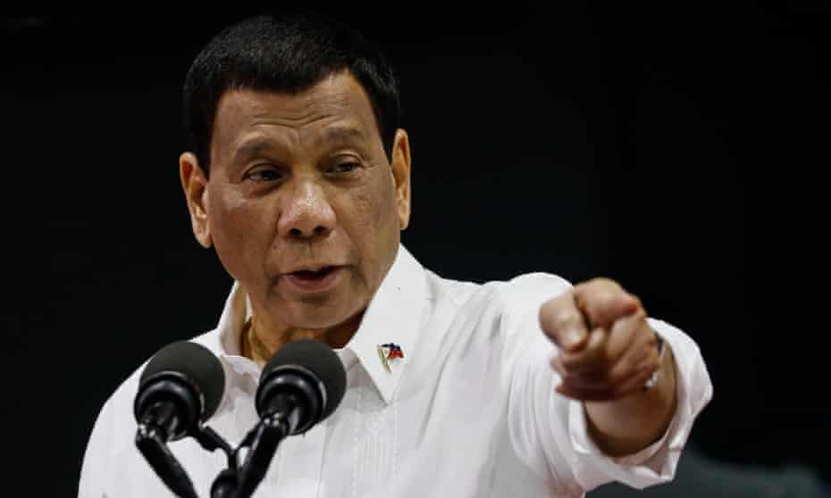President Rodrigo Duterte in Manila earlier this year.
