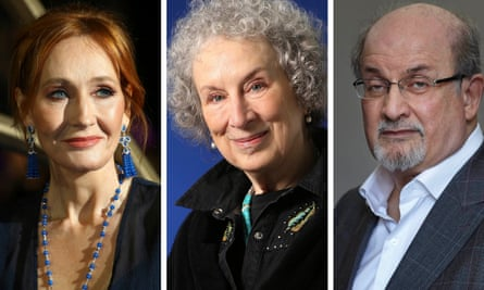JK Rowling, Margaret Atwood and Salman Rushdie.