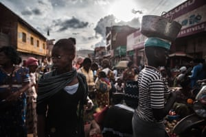 A crowded market in the city of Butembo, a bustling regional trading hub of about one million people in Eastern Democratic Republic of Congo, currently the epicentre of the Ebola outbreak