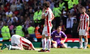 Stoke slumping their way into the Championship.