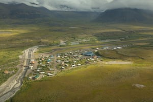 Anaktuvuk Pass, Alaska, a Native Alaskan community of around 300 people, near Alaska's Arctic National Wildlife Refuge.