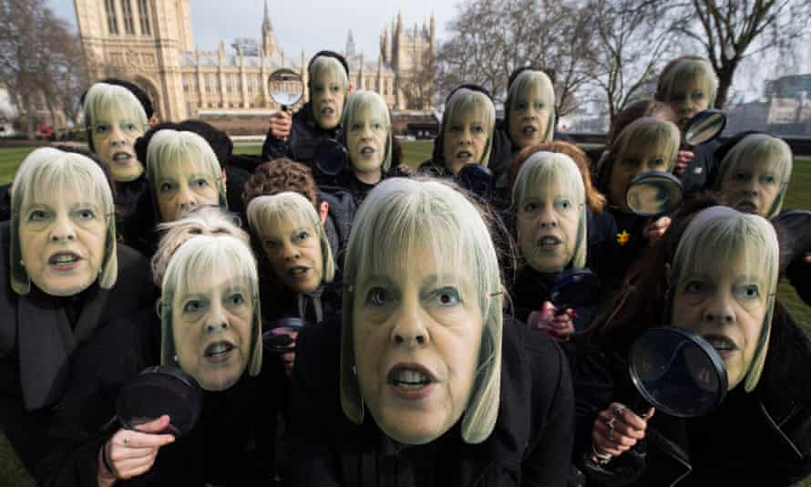 Theresa May has been accused of rushing through the investigatory powers bill or 'snoopers' charter'.