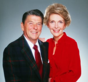 Ronald Reagan and Nancy Reagan in 1980. 'The Reagans were students of movies. They didn't take their eyes from the screen, they didn't look around the room, they didn't do anything. They studied the movies,' writes Mark Weinberg in his memoir.