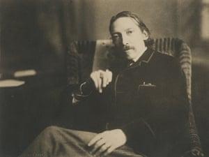 Undated photograph of Robert Louis Stevenson.