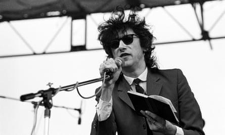 John Cooper Clarke performing in 1980.