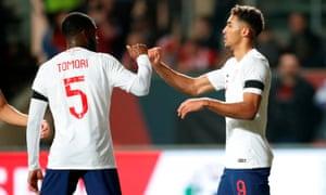 England's Dominic Calvert-Lewin celebrates scoring the opener in the draw against Poland at Ashton Gate.