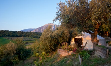 Cool under canvas … yurt accommodation at Fireflies and Figs in the Maeilla mountains, Abruzzo.