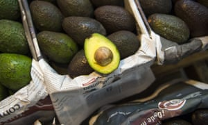Avocados for sale in a large market in Mexico City.