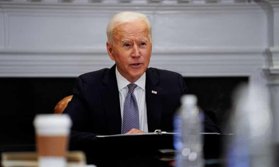 Joe Biden at the White House on 12 April.
