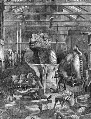 Concrete monsters materialised within a workshop on the grounds of the Crystal Palace, a revolutionary glass and cast-iron structure used to house the Great Exhibition of 1851.