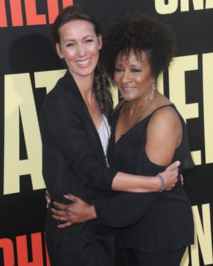 Sykes with her wife Alex , 2017.