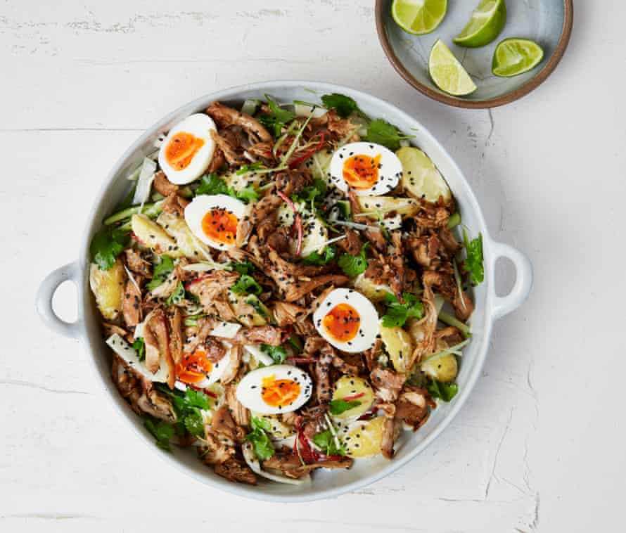 Yotam Ottolenghi's Asian chicken and egg salad.