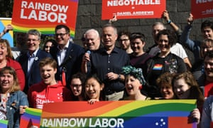 Bill Shorten at a rally in support of marriage equality