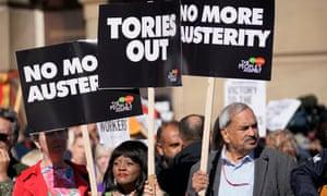 Demonstrators outside  Conservative conference in Birmingham