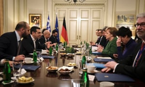 Angela Merkel and Alexis Tsripas meeting today