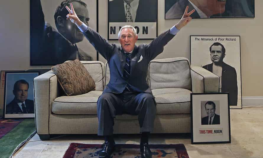 Roger Stone, pictured at his office in Fort Lauderdale, Florida.