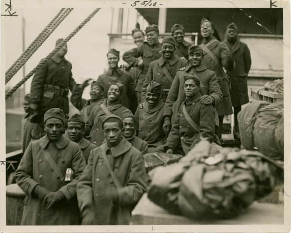 The Harlem Hellfighters – a largely Black infantry regiment – return from a tour of duty during World War I.