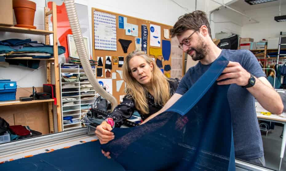 Fleur Britten with Simon Johnson at Pattern Project in south London