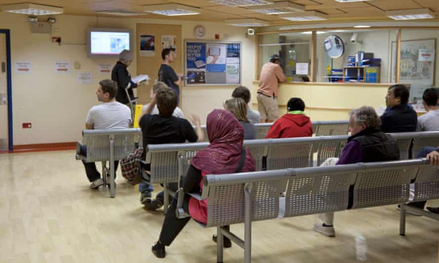 Patients at the A and E department of London's Royal Free Hospital, which has partnered with Deepmind Health.