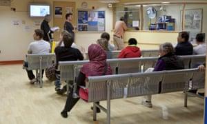 Waiting room at a hospital.
