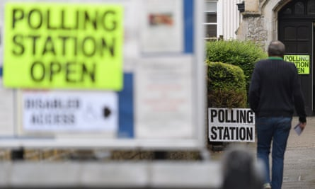 A polling station in Broadstairs, Kent