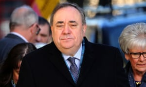 Alex Salmond arrives at the high court in Edinburgh for the final day of his trial.