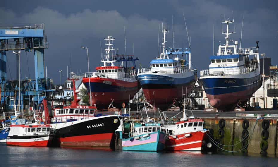 Fishing boats moored in western France