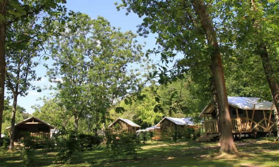 Chalets at Nantes Camping, France.