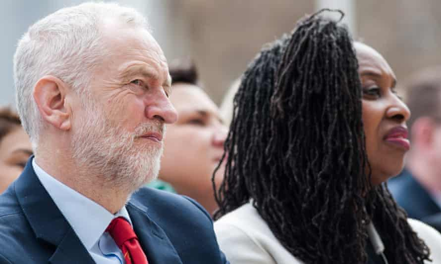 Jeremy Corbyn with Dawn Butler, who said 'we always knew it was going to be a difficult election'.